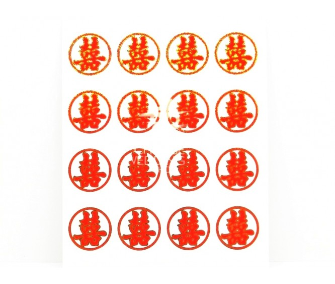 ST38 Double Happiness Stickers
