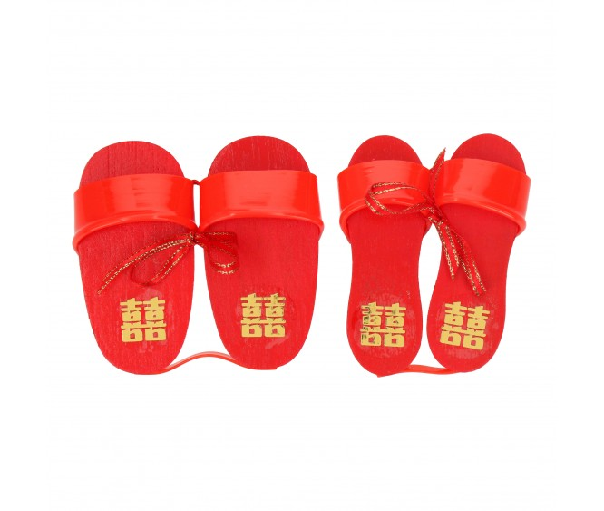 Mini Wooden Clogs (Double Happiness)